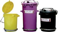 35 litre 50 litre round bins with foot pedals