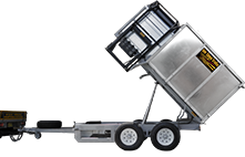 bin tipper trailer - hydraulic lift