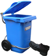 60 litre wheelie bin with foot pedal