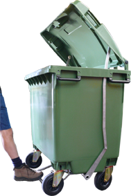 660 litre skip bin with foot pedal