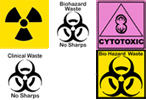medical bin stickers - infectious waste