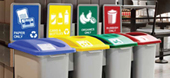 recycling bins and stations - range of sizes