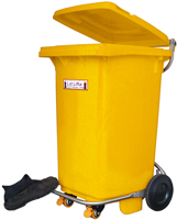 Ergonimc bin available with or without hands free foot pedal