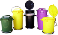 Small bins suitable for medical and allied industries