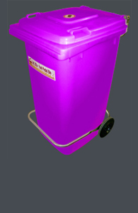 Bins available in a range of sizes & colours...