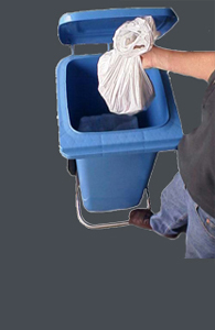 Lid Lifta: foot pedal open & close. NEVER touch the bin-lid again...